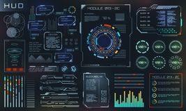 Free HUD And UI Set Elements, Sci Fi Futuristic User Interface, Tech And Science Design Royalty Free Stock Photography - 127739057