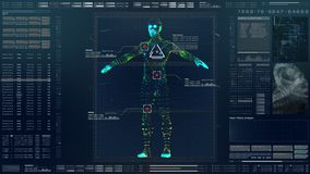 HUD Biomedical Diagnostic futurista ilustração do vetor