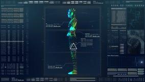 HUD Biomedical Diagnostic futurista ilustração stock