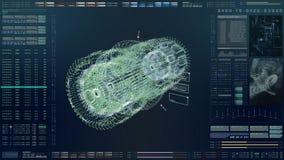 HUD Biomedical Diagnostic futurista ilustração royalty free