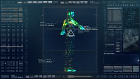 HUD Biomedical Diagnostic futurista stock de ilustración