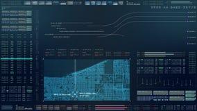 HUD Biomedical Diagnostic futurista ilustración del vector