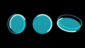 HUD Buttons Rotating futurista en un fondo negro ilustración del vector