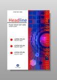 HUD Diseño A4 de la cubierta Vector Imagen de archivo