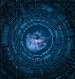 HUD Elements Design futurista, fondo de Techno stock de ilustración