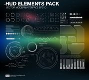 HUD elements pack. Vector modern interface. Abstract background vector illustration. Futuristic user interface. HUD UI UX Stock Image