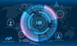 HUD Elements, Search Human Resources, HR Royalty Free Stock Photography