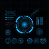 HUD en GUI-reeks. Futuristisch Gebruikersinterface. Stock Afbeeldingen