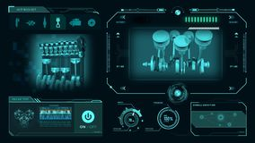 HUD Engine Background illustrazione vettoriale
