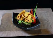 Hud för kinesHotPot djupt stekt tofu Royaltyfri Fotografi