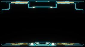 HUD frame viewfinder.Technological futuristic Sci Fi display.