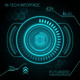 Hud Futuristic Background Royalty-vrije Stock Afbeelding