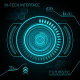 Hud Futuristic Background. Hud hi-tech futuristic dashboard smart interface display background vector illustration Royalty Free Stock Image