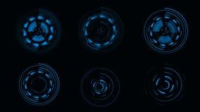 HUD Futuristisch gebruikersinterface sc.i-FI vertonings cirkelelementen stock video