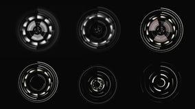 HUD Futuristisch gebruikersinterface sc.i-FI vertonings cirkelelementen stock footage