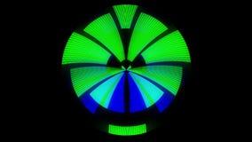 HUD gradisce la nuova qualità che unica di animazione verde straniera morbida di forma rotonda allegri variopinti animati dinamic illustrazione di stock