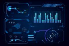 Hud gui interfejsu sztucznej inteligenci wirtualny szablon ilustracji