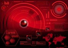 HUD GUI Radar-het monitorscherm Futuristische speltechnologie buitens Stock Illustratie