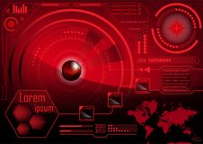 HUD GUI Radar-het monitorscherm Futuristische speltechnologie buitens Stock Fotografie