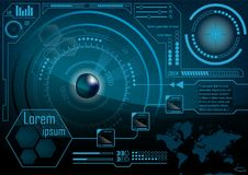 HUD GUI Radar monitor screen. Futuristic game technology outer s royalty free illustration