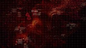 HUD Holographic Terrain Concept militaire futuriste images stock