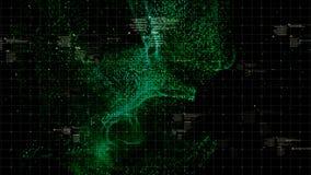 HUD Holographic Terrain Concept militaire futuriste photo libre de droits