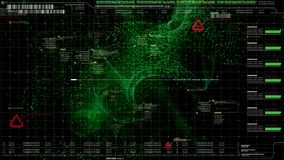 HUD Holographic Terrain Concept militaire futuriste images libres de droits