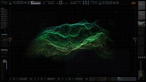 HUD Holographic Terrain Concept militar futurista imagen de archivo