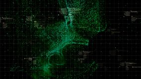 HUD Holographic Terrain Concept militar futurista Foto de archivo libre de regalías