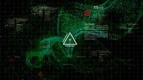 HUD Holographic Terrain Concept militar futurista Fotografía de archivo libre de regalías