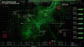 HUD Holographic Terrain Concept militar futurista Imágenes de archivo libres de regalías