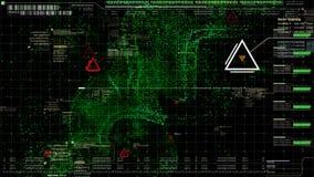 HUD Holographic Terrain Concept militar futurista Fotos de archivo