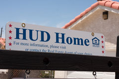Hud Home pole sign stock photography