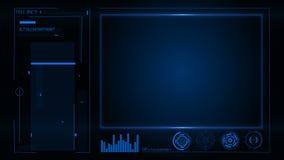 HUD Interface de utilizador e painel de instrumento futurista com projetores no tela vídeos de arquivo