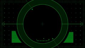 Drone HUD looped, alpha channel, green stock footage