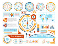 Hud Interface Flat Illustration Image stock