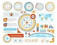 Hud Interface Flat Illustration illustration de vecteur