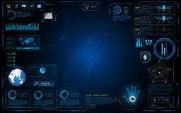 Hud interface graphic system design innovation technology working concept background Royalty Free Stock Images