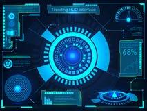 HUD Interface marchand futuriste Image libre de droits