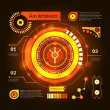 Hud Interface Orange illustrazione di stock