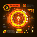 Hud Interface Orange Royalty Free Stock Image