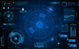 Hud interface technology computer communication telecoms innovation concept template design. EPS 10 royalty free illustration