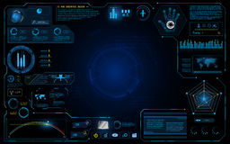 Hud interfejsu ui projekta technologii innowaci systemu pojęcia działający graficzny tło Zdjęcie Stock