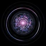HUD Isolated On Black Background futuristico Tecnologia straniera Co Fotografia Stock