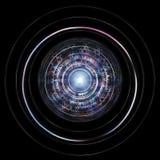 HUD Isolated On Black Background futuristico Tecnologia straniera Co Fotografia Stock Libera da Diritti