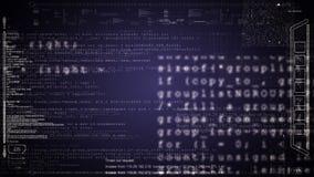 HUD komputerowy dane ekranizuje animację Zieleń zdjęcie wideo