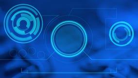 HUD-motie abstracte futuristische achtergrond stock illustratie