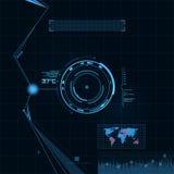 HUD och GUI-uppsättning. Futuristisk användargränssnitt. Royaltyfri Fotografi