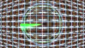 HUD-paneel met een radarnet en een bewegende achtergrond Motiegrafiek stock video