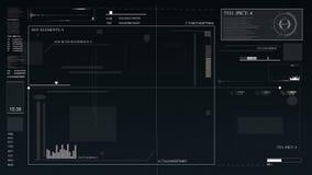 HUD per un'applicazione gestionale Interfaccia utente futuristica dell'interfaccia grafica virtuale, degli elementi infographic e royalty illustrazione gratis